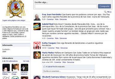 Los agustinos recoletos estrenan espacios en Facebook y Twitter