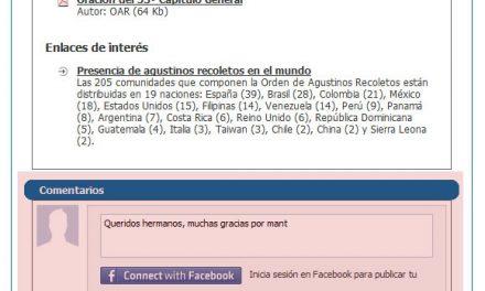 Ya es posible comentar las noticias del portal de la Orden con el mismo usuario de Facebook