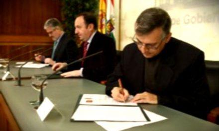 Los agustinos recoletos de San Millán de la Cogolla firman un acuerdo para iluminar la iglesia de Yuso