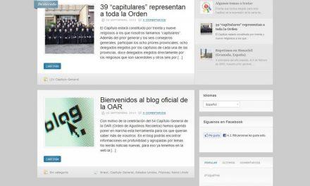 La Orden estrena su blog oficial coincidiendo con la celebración del 54 Capítulo General