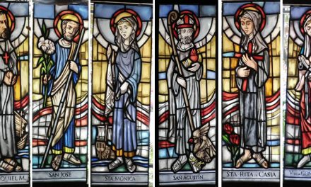 El artista Rafael Nieto diseña seis nuevas vidrieras con motivos agustinianos