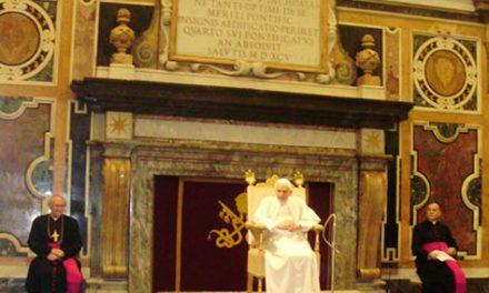 El Papa recibe a los Superiores Generales Religiosos, entre ellos el prior general de los agustinos recoletos