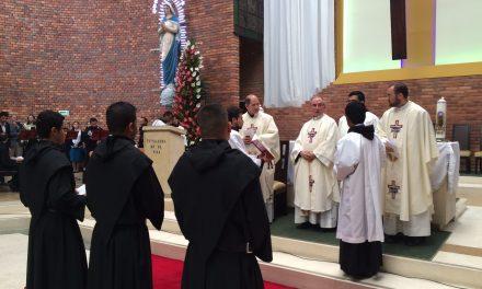 Profesión solemne de tres jóvenes colombianos en la fiesta de San Agustín
