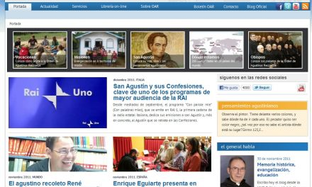 The official website of the Order launches a new design and consultation on-line on Saint Augustine