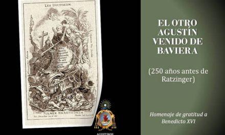 Los agustinos recoletos agradecen a Benedicto XVI su amor a san Agustín y le felicitan en su 86 cumpleaños