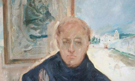 El pintor Juan Mallol regala a la Orden un retrato del reformador de los agustinos en América