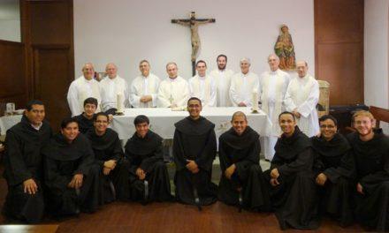 Diez jóvenes religiosos se preparan durante un mes en San Millán para consagrarse definitivamente a Dios