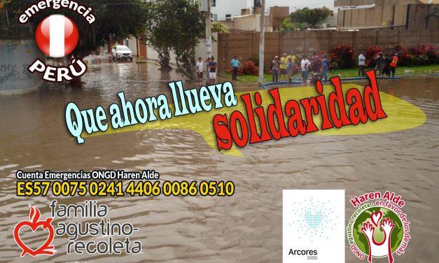 Ayuda de emergencia a Perú: la Familia Agustino-Recoleta llama a la solidaridad con las víctimas de las inundaciones