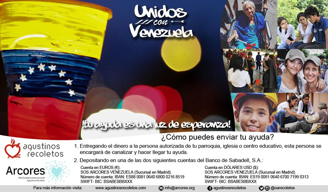 Unidos con Venezuela: tu ayuda es una luz de esperanza