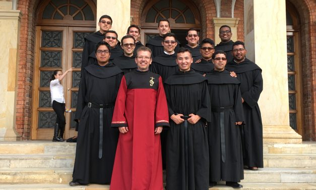 The augustinian recollects of the house of formation of the province Our Lady of the Candelaria, will sing to the Pope Francisco in his visit to Colombia