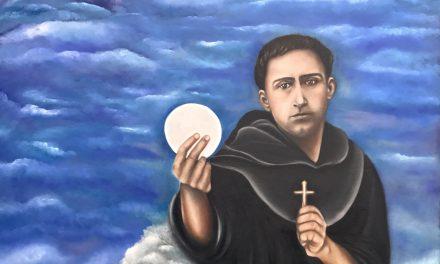 """María Eugenia Gutiérrez: """"Quería plasmar en el lienzo algún santo que me inspirara y por eso elegí a San Ezequiel Moreno"""""""