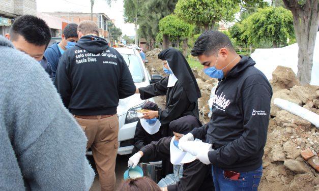 La familia agustino recoleta continúa su labor asistencial en México un mes después del terremoto