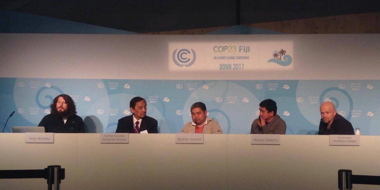 Los Agustinos Recoletos, presentes en la Cumbre del Clima de Bonn por su labor en Filipinas