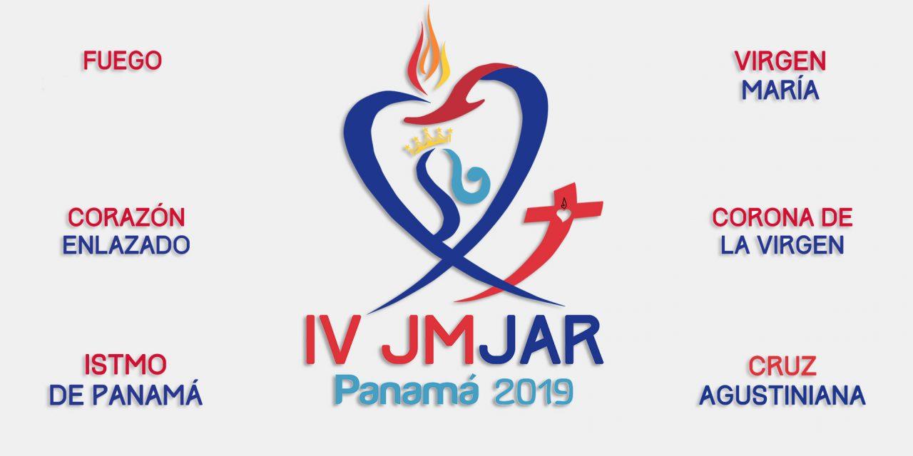 El istmo de Panamá, la Virgen María y la cruz agustiniana, en el logo de la JMJAR Panamá 2019