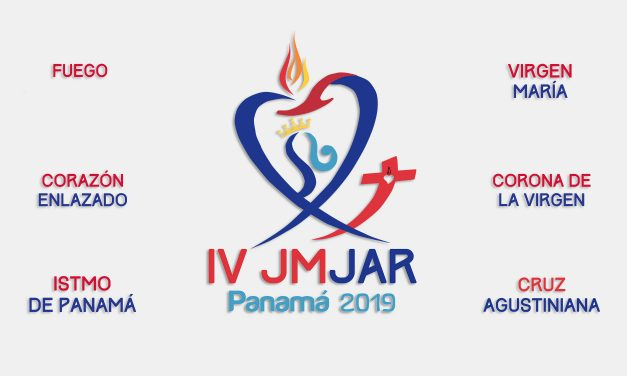 The Isthmus of Panama, the Virgin Mary and the Augustinian Cross, in the logo of the JMJAR Panama 2019
