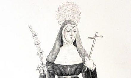 Esculpiendo a Santa Rita en la madera
