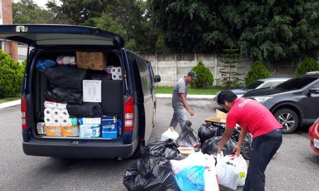 Los Agustinos Recoletos entregan la primera ayuda en Guatemala